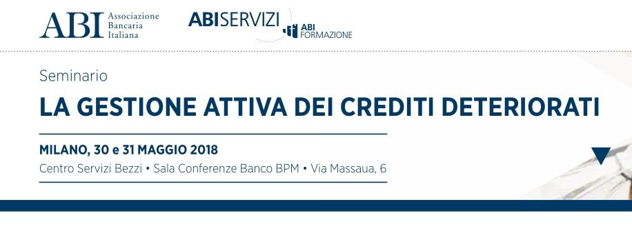 """Antonio Campagnoli oratore al seminario ABI dal titolo: """"La Gestione dei Crediti Deteriorati"""""""